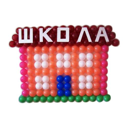 """Панно """"Школа"""" из воздушных шаров"""