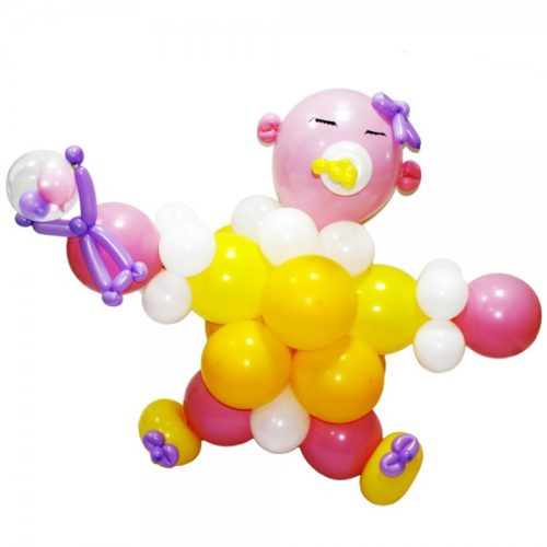 Карапуз с соской из воздушных шаров