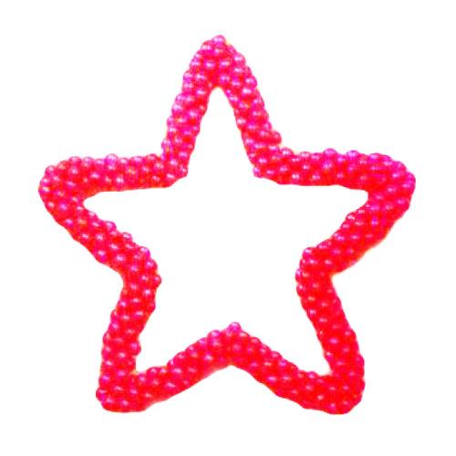 Контур звезды из красных воздушных шаров