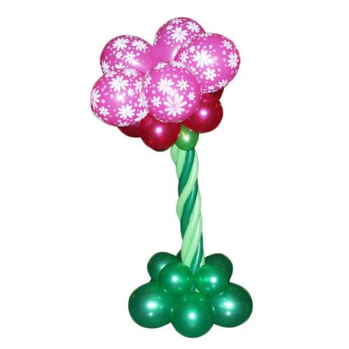 Дерево-цветочек с розовой кроной из воздушных шаров