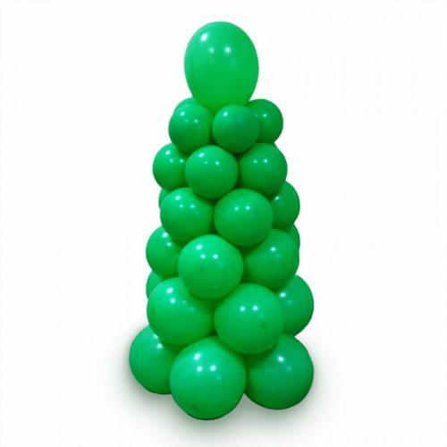 Елка зеленая из воздушных шаров