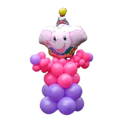 Цирковой слон из воздушных шаров