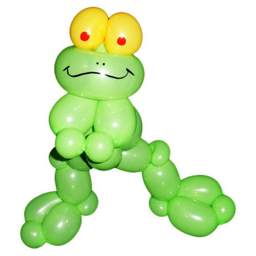 Танцующая лягушка из воздушных шаров