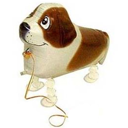 Шар 61 см Ходячая Фигура Собака Коричневый