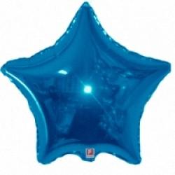 Шар 46 см Звезда Синий вариант 1