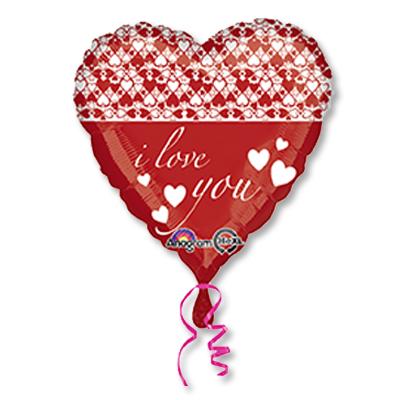 Шар 46 см Сердце Бесконечные сердца