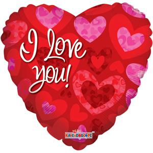 Шар 46 см Сердце Объемные сердечки