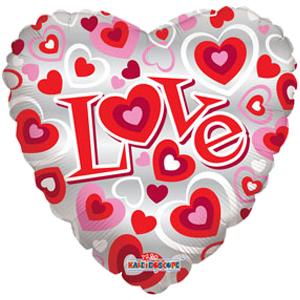 Шар 46 см Сердце Просто любовь односторонний