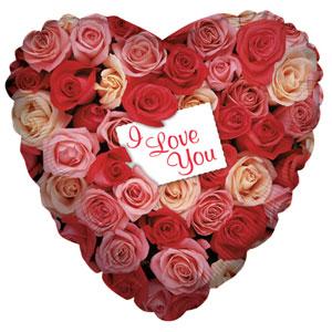 Шар 46 см Сердце Розовый сад