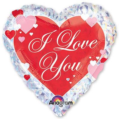Шар 46 см Сердце Салют сердец