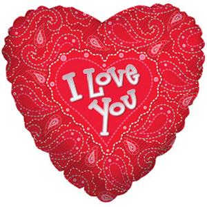 Шар 46 см Сердце Сердечки орнамент