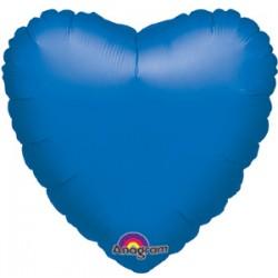 Шар 46 см Сердце Синий вариант 2