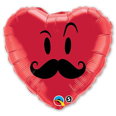 Шар 46 см Сердце Усы