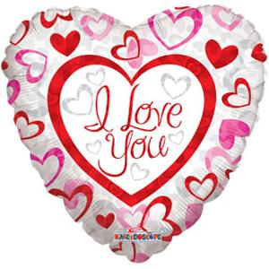 Шар 46 см Сердце Фигурные сердечки
