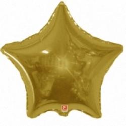 Шар 81 см Звезда Золото