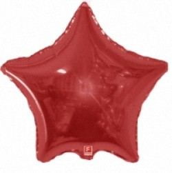 Шар 81 см Звезда Красный