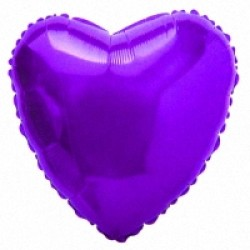 Шар 81 см Сердце Фиолетовый