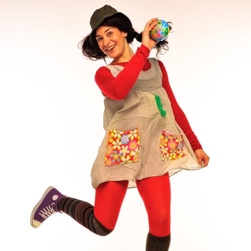 Живая открытка - Поздравление от Пеппи Длинныйчулок с шарами