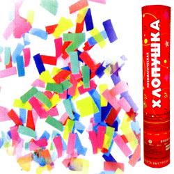 Пневматическая хлопушка 30см бумажное конфетти