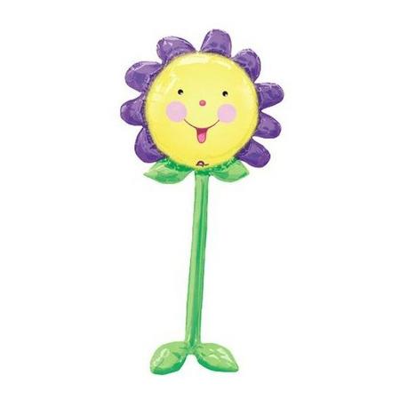 Шар 152 см Ходячая Фигура Цветок фиолетовый