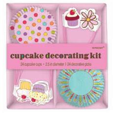 Декоративный комплект для кексов Сладкий Праздник 24 штуки