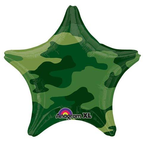 Шар 46 см Звезда камуфляж