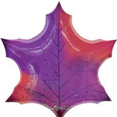 Шар 74 см Фигура Лист кленовый фиолетовый