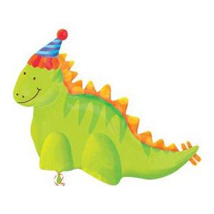 Шар 79 см Фигура Динозавр праздничный