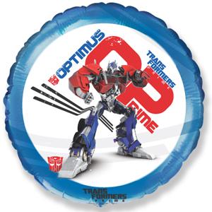 Шар 46 см Круг Трансформеры Оптимус Прайм Синий