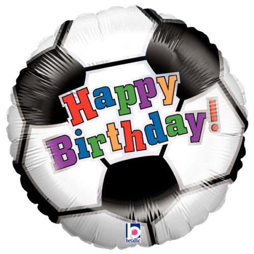 Шар 46 см Круг Футбол С днем рождения
