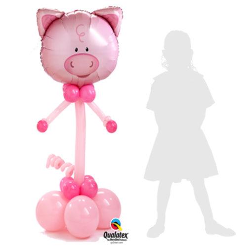 Свинка - колонна из воздушных шаров