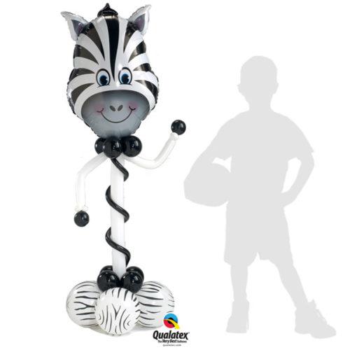 Зебра - колонна из воздушных шаров