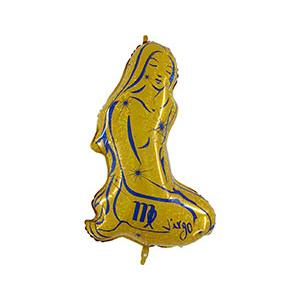Шар 102 см Фигура Зодиак Дева золотой