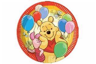 Тарелка бумажная 20 см Винни Пух и друзья 8 шт