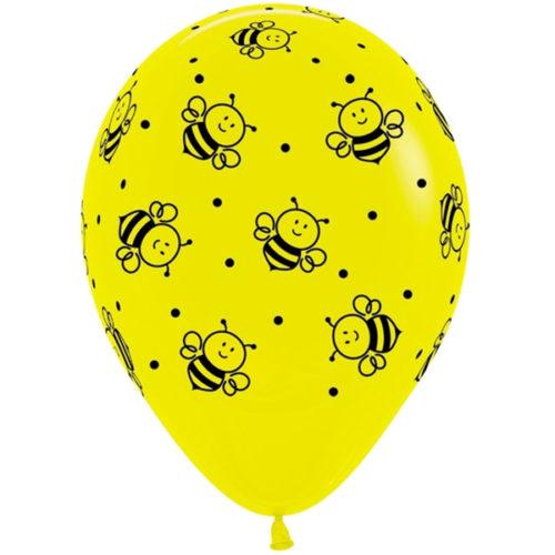 Шар 30 см Пчелки Ассорти пастель