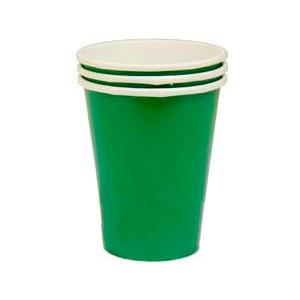 Стакан бумажный Зеленый Festive Green 8 шт