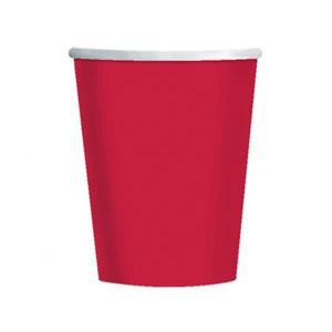 Стакан бумажный Красный Apple Red 8 шт