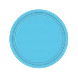 Тарелка бумажная 17 см Голубой Caribbean Blue 8шт
