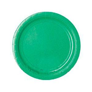 Тарелка бумажная 17 см Зеленая Festive Green 8 шт