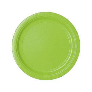 Тарелка бумажная 17 см Салатная Kiwi Green 17 см 8 шт