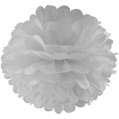 Помпон 20 см белый
