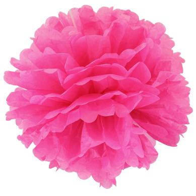 Помпон 20 см розовый
