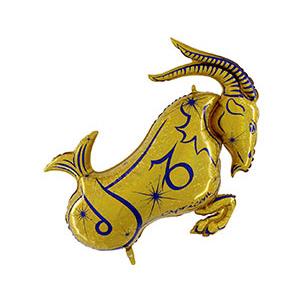 Шар 107 см Фигура Козерог золотой