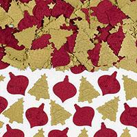 Конфетти бумажное Елки золотые 42 гр