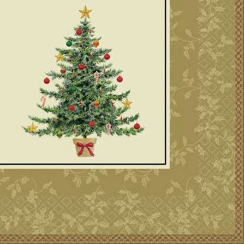 Салфетки 33 см Елка Рождество 16 штук