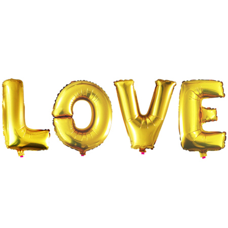 Надпись из шаров LOVE с воздухом