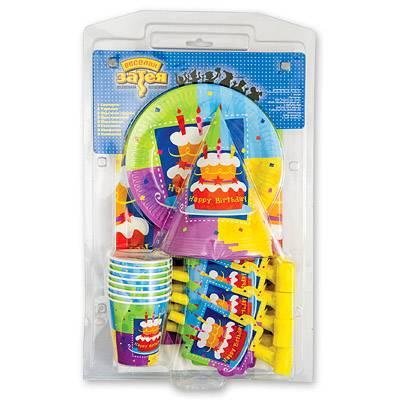 Набор для праздника Торт Birthday на 8 персон