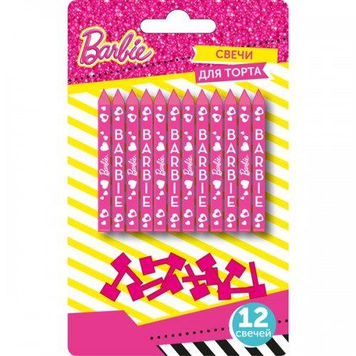 Набор свечей 6 см Барби 12 шт