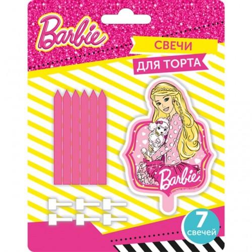 Набор свечей 6 см Барби и 1 фигурная 6 шт