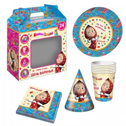 Подарочный набор посуды 24 предмета Машины сказки на 6 персон